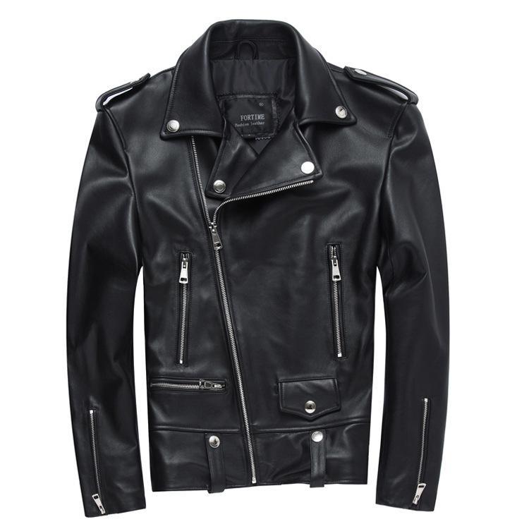 1ab43e2991f Cheap Leather Bomber Jacket Fur Collar Best Black Leather Jacket Men Cheap
