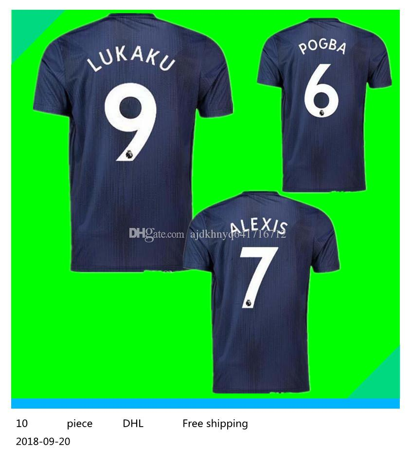 24857f906f9 ... shop 18 19 7 alexis third soccer jersey 2019 6 pogba soccer shirt 2018  customized 10