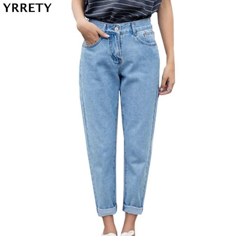 2a0f650738be 2019 YRRETY 2018 New Slim Straight Pants Vintage High Waist Jeans New  Womens Pants Full Length Jeans Loose Cowboy Pant High Quality From  Liumeiwan