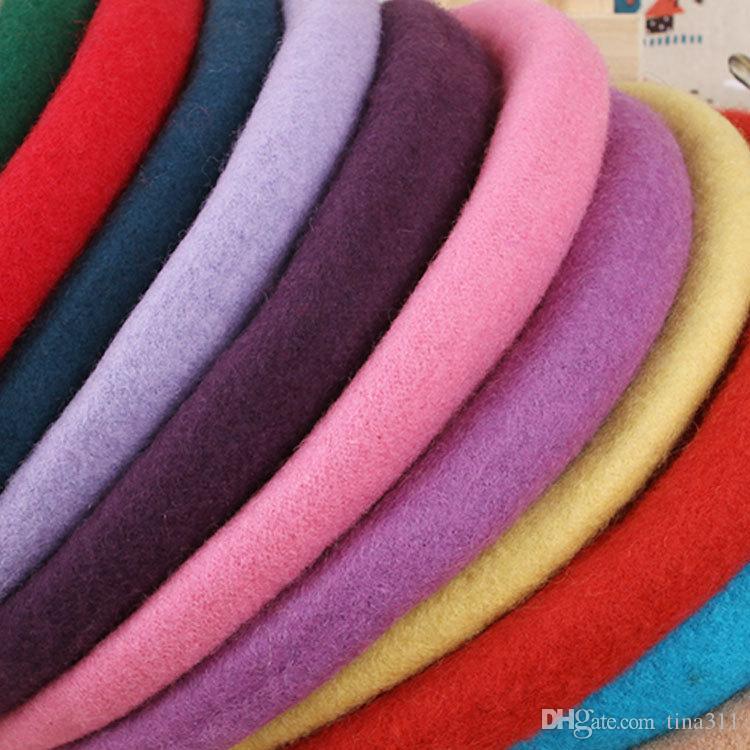 Autumu Winter Kid's Beret Wool Hat Girls Boys Cute Beret Caps Good Quality Children's Round Hats The Painter Cap Wholesale T2C263
