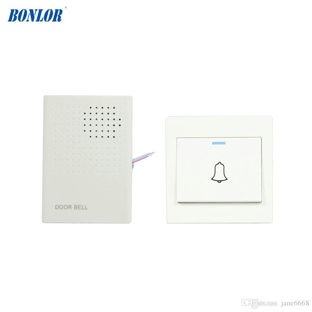 2018 1 Full Set Home Use Door Bell Push Button And Electronic Ding Dong Circuit Doorbell Aaa Battery Dingdong From Jane6668 1608
