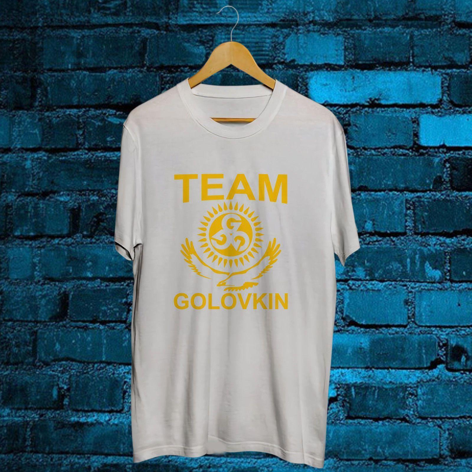 e4a29c34ff45a8 Team GGG Golovkin Boxing Gennady Golovkin T Shirt Mens 2018 Fashion Brand T  Shirt O Neck 100%cotton T Shirt Tops Tee Custom Environmental T Shirs T  Shirst ...