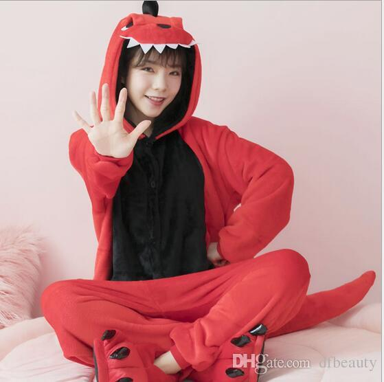Wholesale Animal Red Dinosaur Cheese Cat Onesie Adult Unisex Cosplay Costume  Pajamas Sleepwear For Men Women Kigurumi Pajamas Anime Animal Costumes ... f2414d230