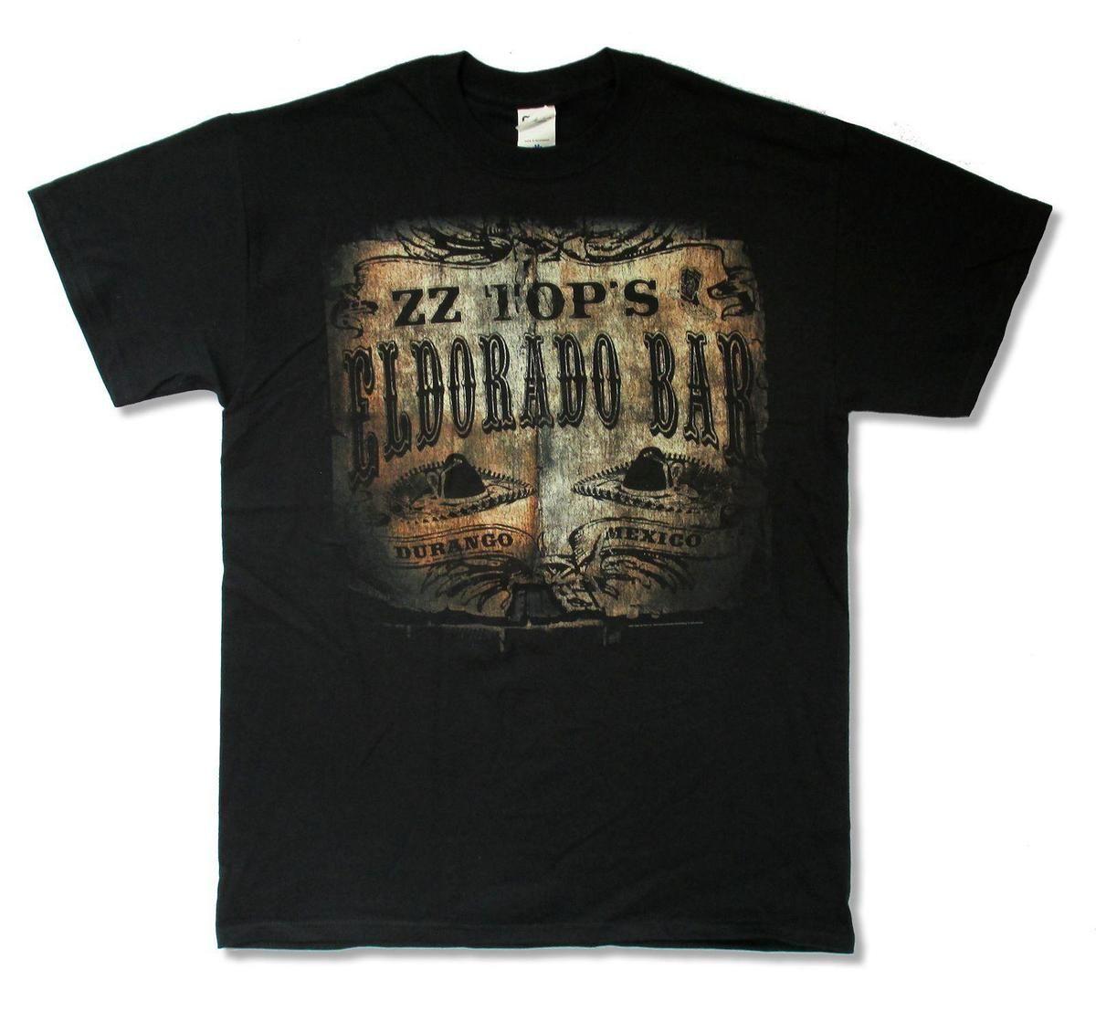e7da423a2a36fc ZZ TOP EL DORADO BAR TOUR 2013 AR NC BLACK T SHIRT NEW ADULT OFFICIAL Mens  2018 Fashion Brand T Shirt O Neck 100%cotton T Shirt Over Shirt Best T Shirt  Site ...