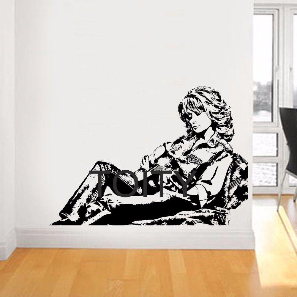 Dolly Parton Wall Sticker Country Music Singer Vinyl Decals American Celebrity Artist Art Decor Home Room Interior Retro Mural