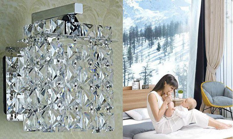 Modern crystal wall lamp bedroom bedside lamp aisle corridor wall lights Luxury living room wall sconce lights crystal kithen