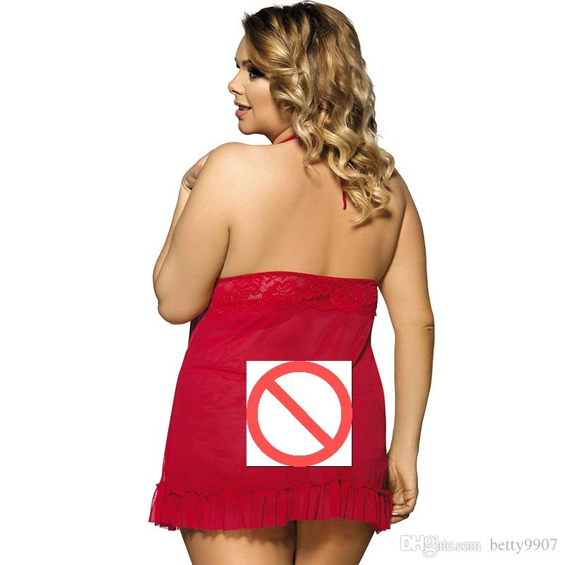 Woman Lingerie Underwear Baby doll Evening Dresses With G-back Hot Plus Size M-7XL Transparent Sleepwear New 2018 Sexy Clothes