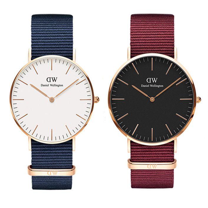 9756c1c34ef6e New 2018 Fashion Brand Nylon Watch Daniel Watches Men 40mm Casual ...