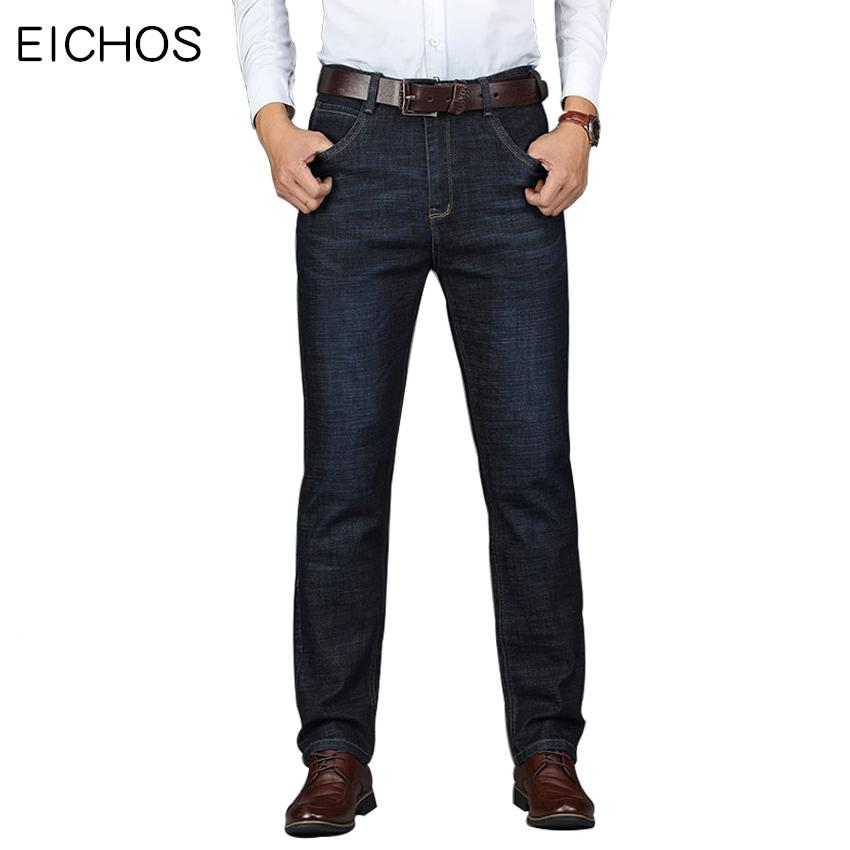 2018 Autumn Winter Mens Jeans Brand Male Straight Business Denim Overalls Men Elasticity Casual Long Jeans Trousers Men