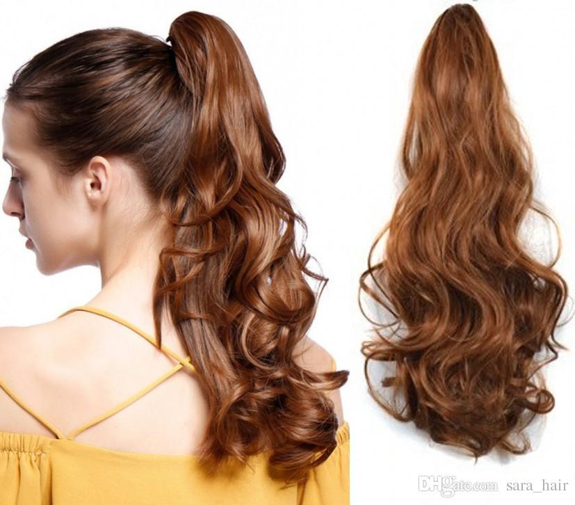 Sara Lady Kinky Curly Pferdeschwanz Haarverlängerungsklaue Clip in ähnlichen menschlichen Pferdeschwanz Schachtelhalm synthetische Haarteil Stück Erweiterungen