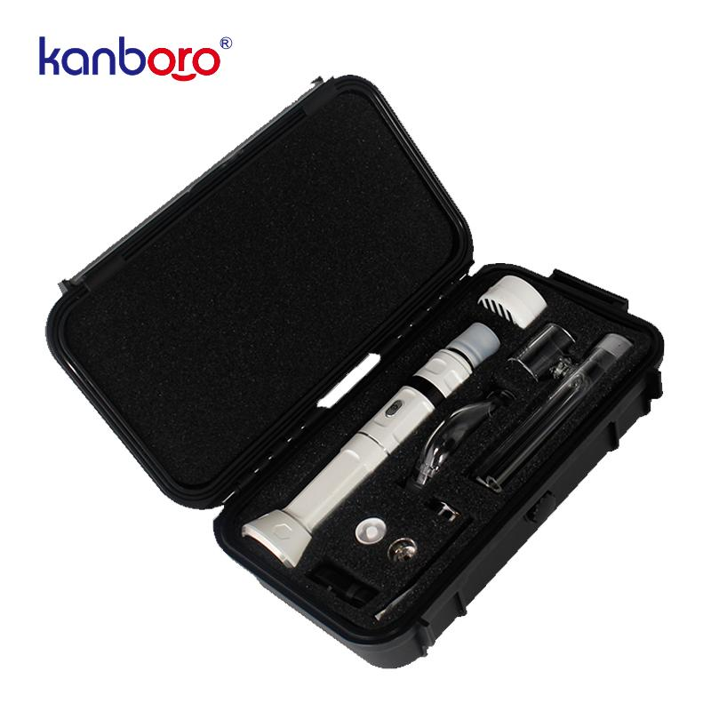 Most popular products Kanboro Ecube master electronic cigarettes wax vape pen kit TC control wax atomizer with 3 types of nail