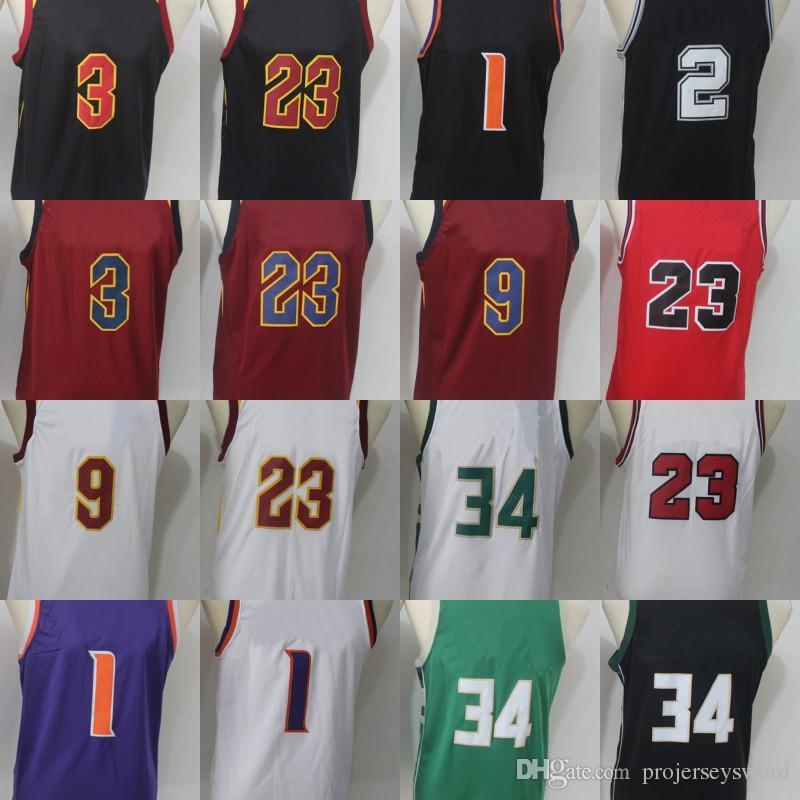 4af07a080 Youth Basketball Jersey 3 George Hill 9 Dwyane Wade 23 LeBrOn JaMes ...