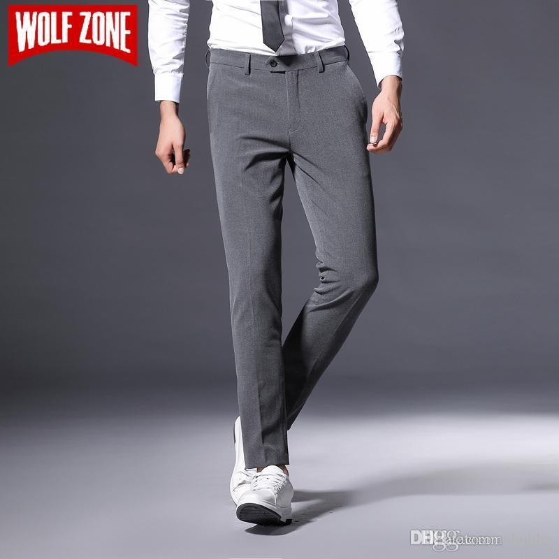 Hot Sale Autumn Suit Pants Men Business Casual Trousers Brand