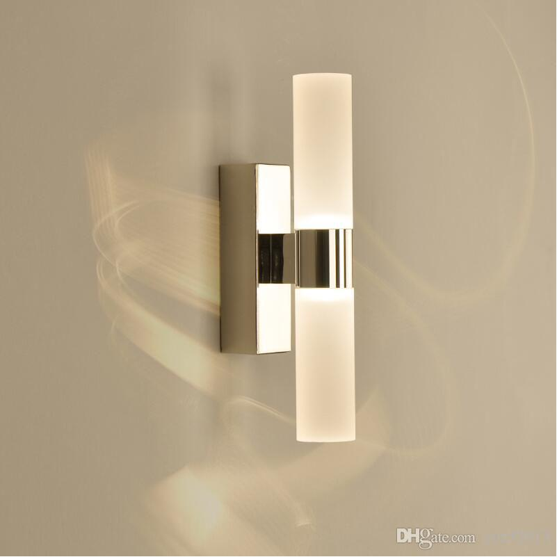 2018 6w Led Wall Lamp For Home Living Room Double Heads Acrylic Wall ...