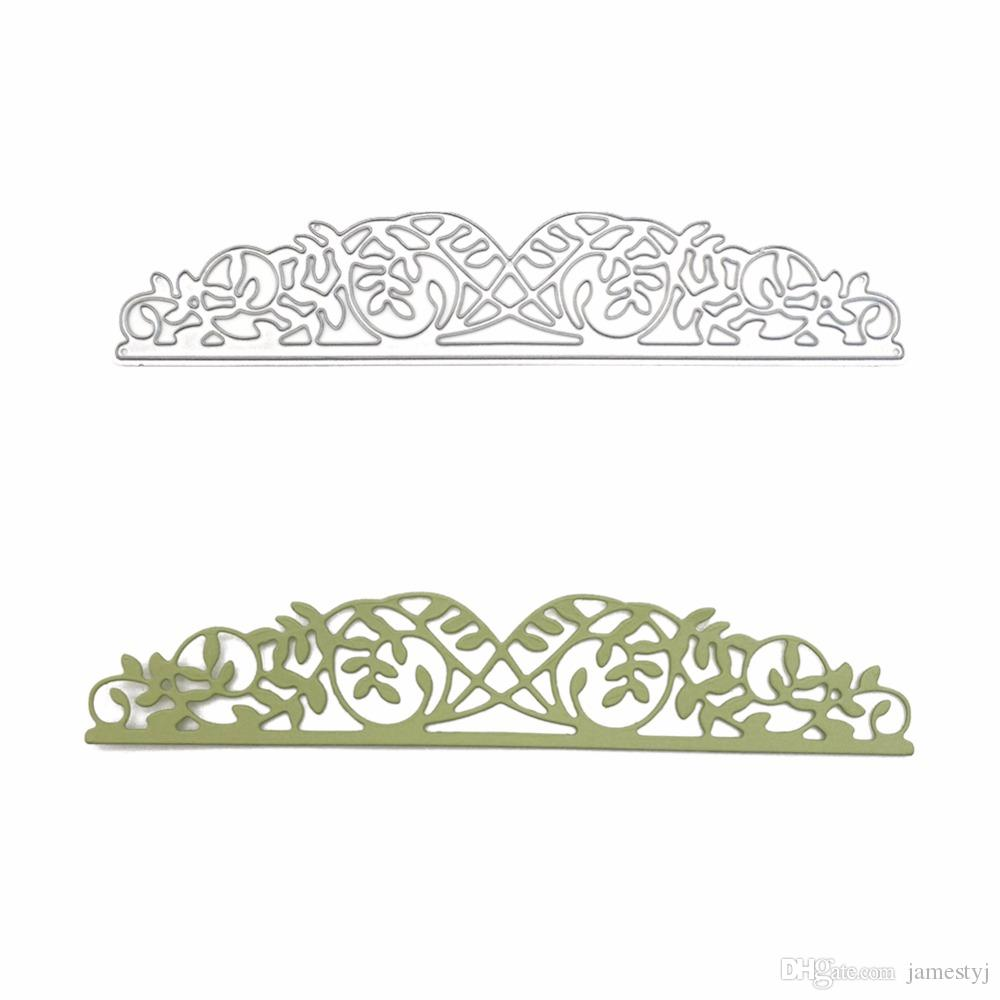 2019 Cutting Dies Lace Flower Border Decoration For Card Stencil