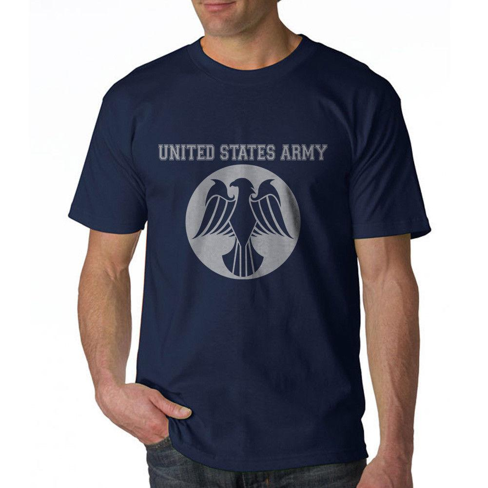United States Army Eagle Design Men's Navy T-shirt