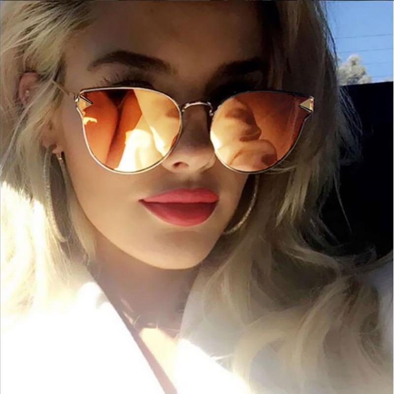 48836c678 Compre Armação De Metal Olho De Gato Mulheres Óculos De Sol Feminino Óculos  De Sol Shades Famosa Marca Designer Alloy Legs Óculos Oculos De Sol Feminino  De ...