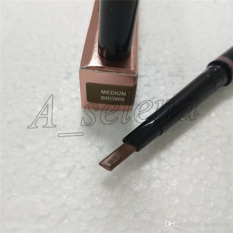 Caliente nuevo MAQUILLAJE doble lápiz de cejas BROW LÁPIZ ébano / MARRÓN OSCURO / MARRÓN MEDIO / chocolate Envío gratis