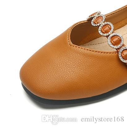 83d98d15dcc22 Acheter Filles Princesse Chaussures 2018 Nouvelle Version Coréenne Du  Printemps Et De L automne Chaussures À Semelle Souple Petites Filles  Étudiants ...