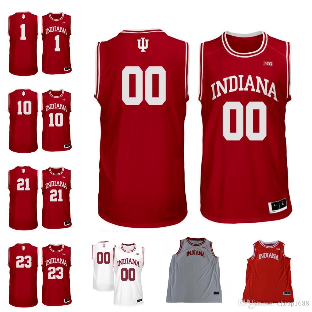 super popular 778ed 786ad Indiana Hoosiers #1 Romeo Langford 21 Jerome Hunter 10 Robert Phinisee 23  Damezi Anderson Any Name Number College Basketball Jersey