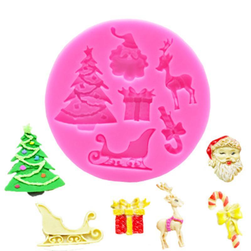 Großhandel Weihnachten Silikon Kuchen Formen DIY Kekse Süßigkeiten ...