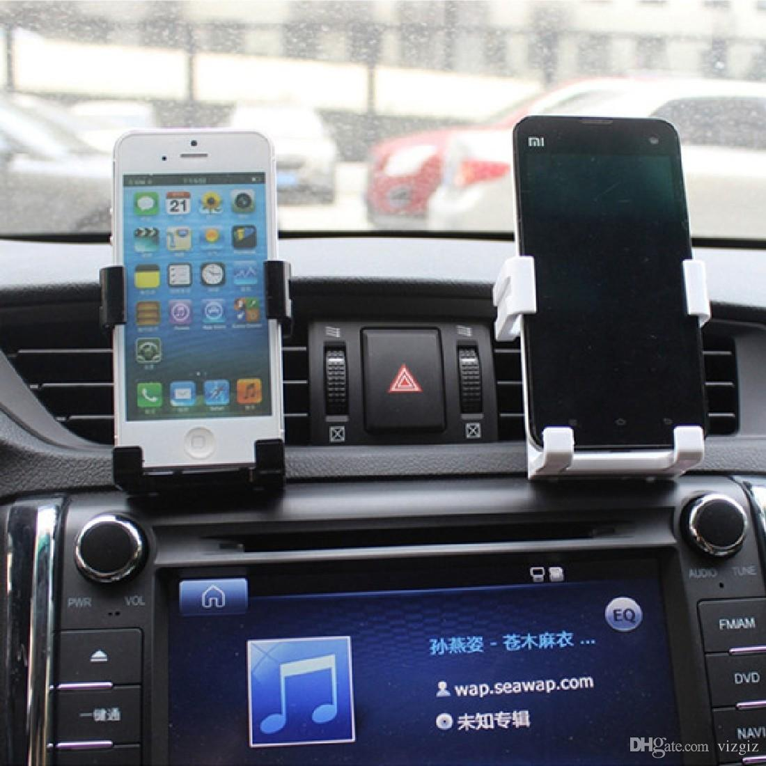 reputable site f513d 77d76 Etmakit Universal Stand Car Holder For Iphone 6/Plus 5s Car Air Vent Mount  Holder GPS Accessories Stand For Mobile Phones Holder