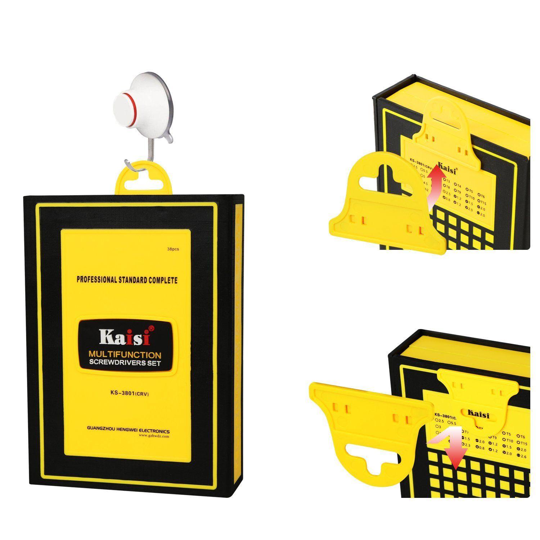 1шт многоцелевой Kaisi 38 в 1 Набор прецизионных отверток для телефона Открытие Ремонт Набор инструментов для iPhone 4 / 4S / 5/6/7/8 плюс iPad Samsung