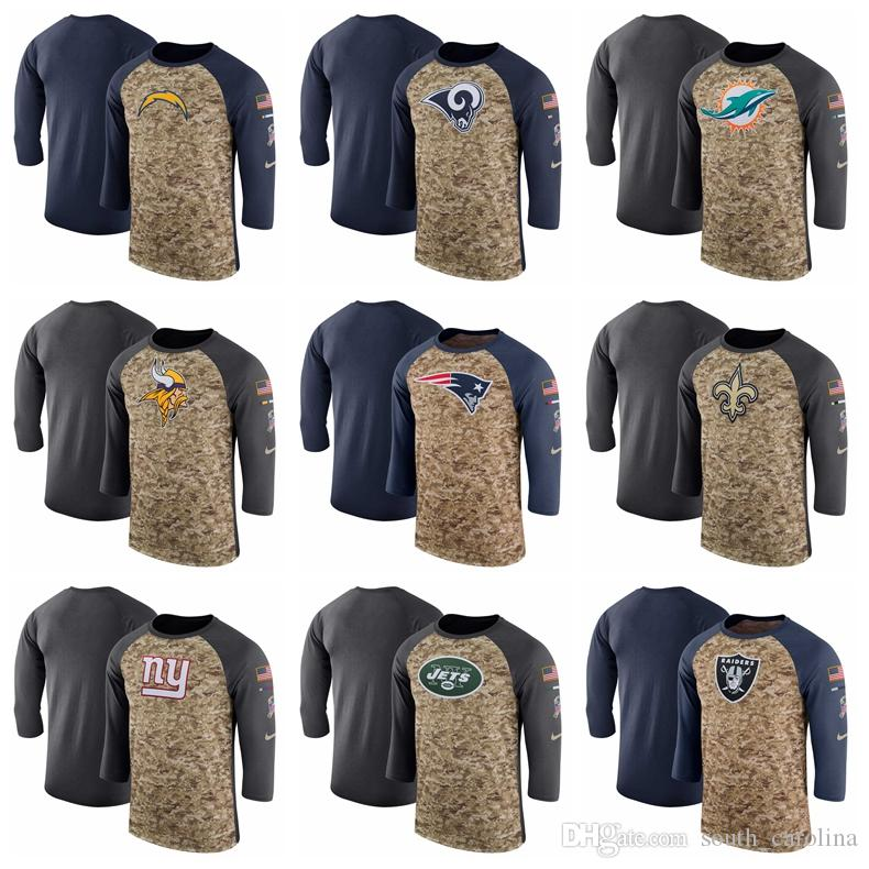 Men Los Angeles Vikings Chargers Rams Dolphins Patriots Saints Giants Jets  Camo Navy Salute to Service Sideline Legend Performance T-Shirt Pekka Rinne  ... c0be663e3