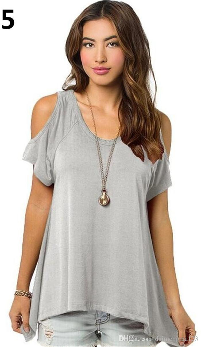 Marka giyim yaz V saf pamuk kısa kollu Straplez yaka fishtail etek kadın kadın T-shirt M182