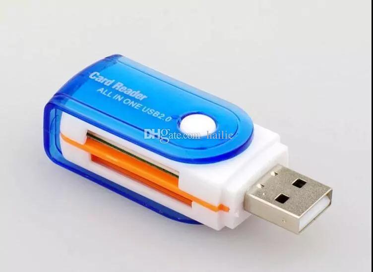 Alle in 1 USB 2.0 Multi-Speicherkartenleser Adapter-Anschluss Für Micro SD MMC SDHC TF M2 Speicher MS Duo RS-MMC