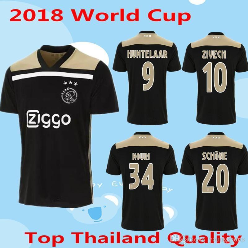 437a58757de 2018 2019 Ajax Blacker Soccer Jersey 18 19 FC Soccer Jerseys Away ...