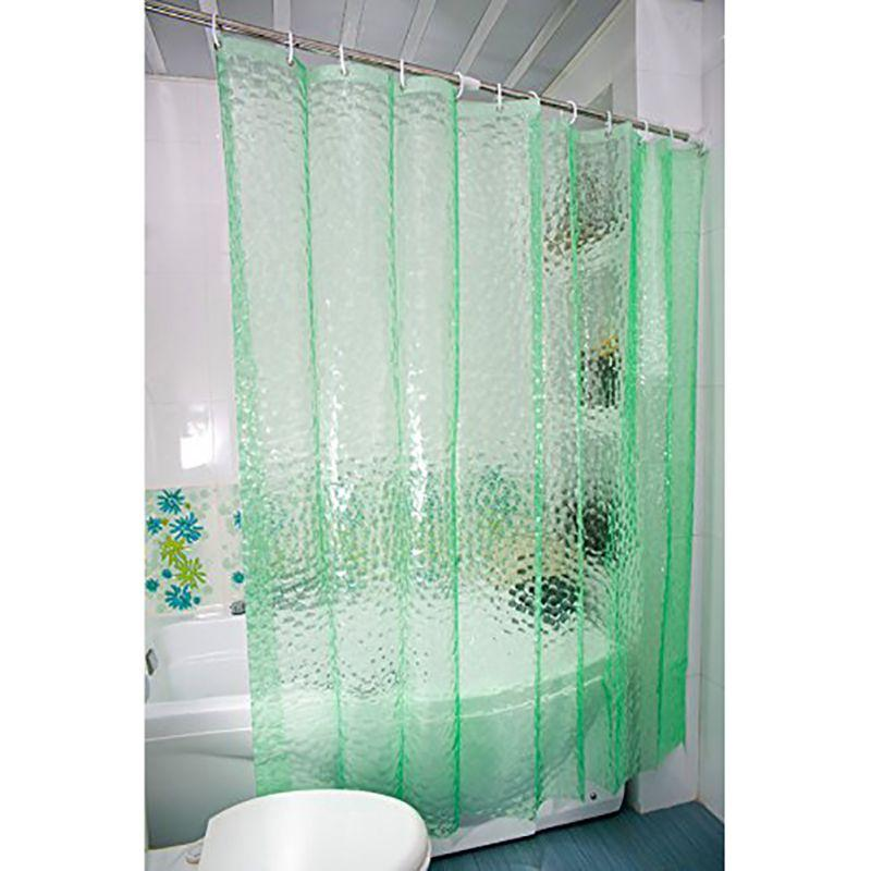 2019 Thickening 15 Silk Transparent 3D Water Cube EVA Shower Curtain Environmental Waterproof And Mildew Blue Green White From Glenae 3918