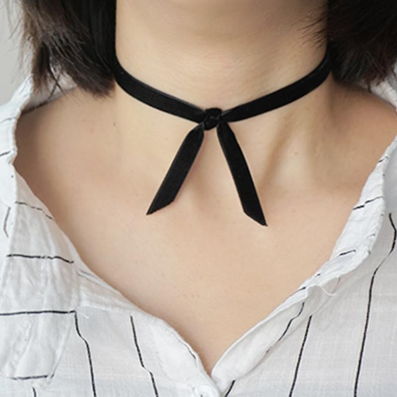 Whole SaleFashion Harajuku Black Bow Tie Velvet Choker Necklaces Women  Gothic Punk Necklace Female Collar Party Jewelry Trinket Gift UK 2019 From  Shemei c246f719e