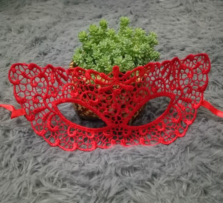 Venetian Red Lace Filigree Masquerade Ball Mask Gothic Party Masks Carnival Eyemask black white fancy dress prom