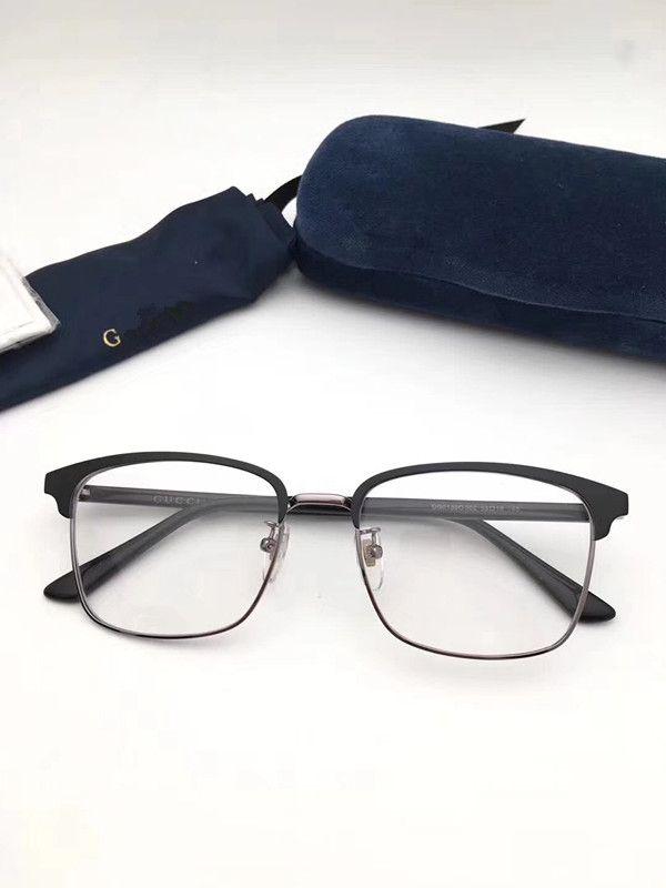 Classique Retro Effacer Nerd Objectif Cadres lunettes de mode Marque Designer Hommes Femmes Lunettes Vintage moitié Lunettes métalFrame GG01300