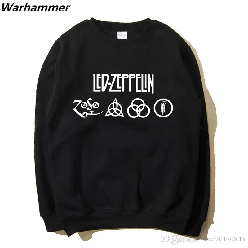 f9376b7e971 Led Zepplin Men Hoodie Stylish Rock Fans Full Sleeve Print Pattern ...