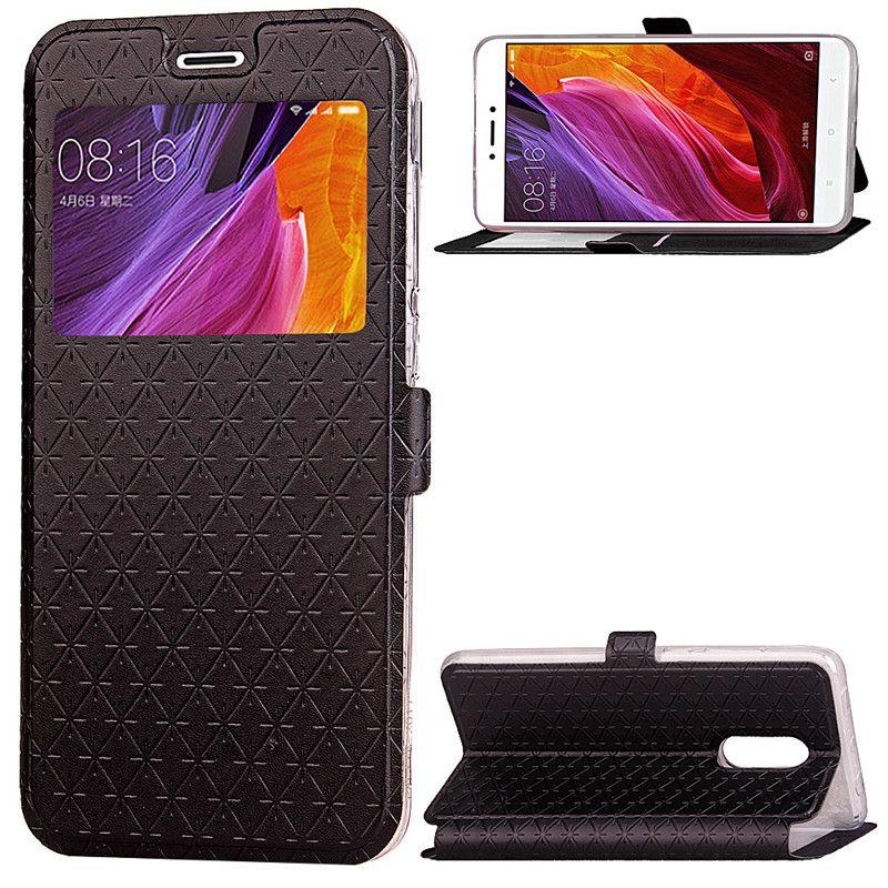 apri la cassa del telefono Window xiaomi redmi note 4x cassa redmi4x soft tpu copertura in pelle di vibrazione griglia Ling cover redmi 4x custodia