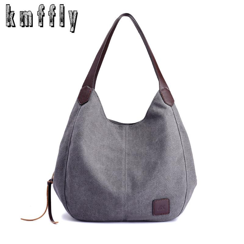 KMFFLY 2018 New Women Canvas Handbags Brands Designer Female Fashion  Shoulder Bags Ladies Tote Retro Leisure BagY1883107 Handbag Brands Reusable  Shopping ... a08e7ccf9ba23