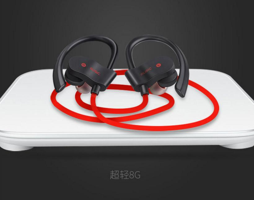 56S China fiery explosion sports Bluetooth headset wireless 4.1 ear headphone stereo universal type soft materials with long pain