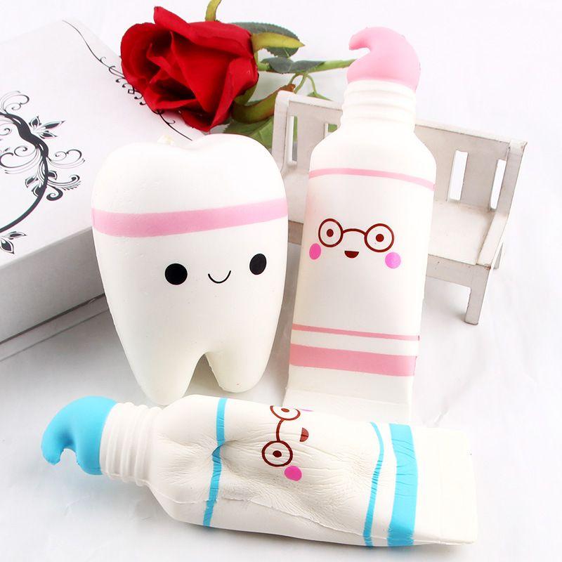 Créativité squishies jouets pu Dessin animé dentifrice spongieux coton candy lente squishy s'élevant avec paquet squeeze jouet enfant cadeau parfumé Free Ship