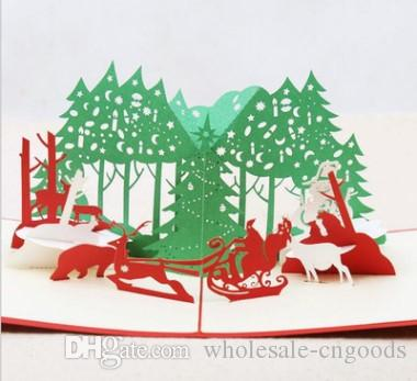 3d cubic christmas cards paper sculpture christmas eve blessing cards christmas tree birthday card design birthday card designs from wholesale cngoods