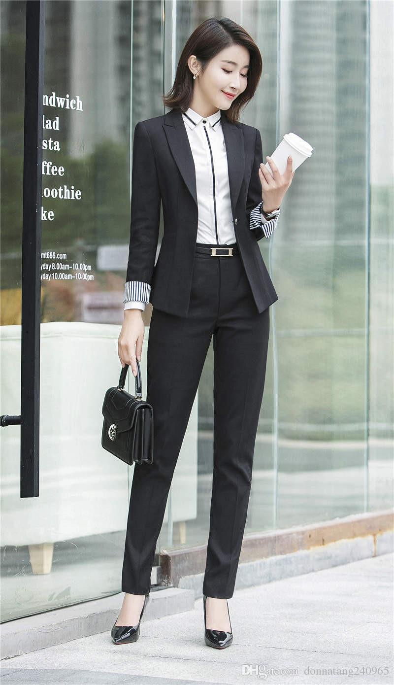 Women Pant Suits Female Suit Dress Notch Lapel Woolen Blend Women S