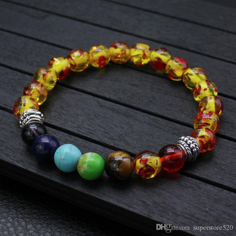 2021 Nouveau 8 styles Bracelet Hommes Black Lava Balance de guérison Perles Buddha Prière Pierre naturelle Bracelet de yoga pour femmes