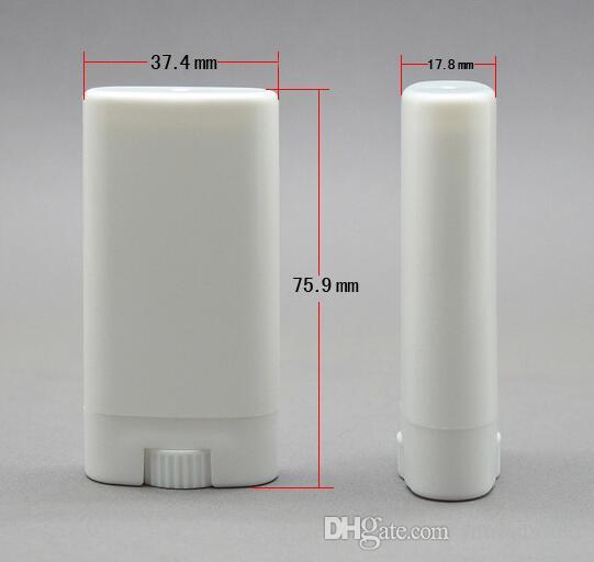 Taşınabilir DIY 2000 Adet / grup 15 ml Plastik Boş Oval Dudak Balsamı Tüpler Deodorant Konteynerler Temizle Beyaz Ruj Moda Serin Dudak Tüpler