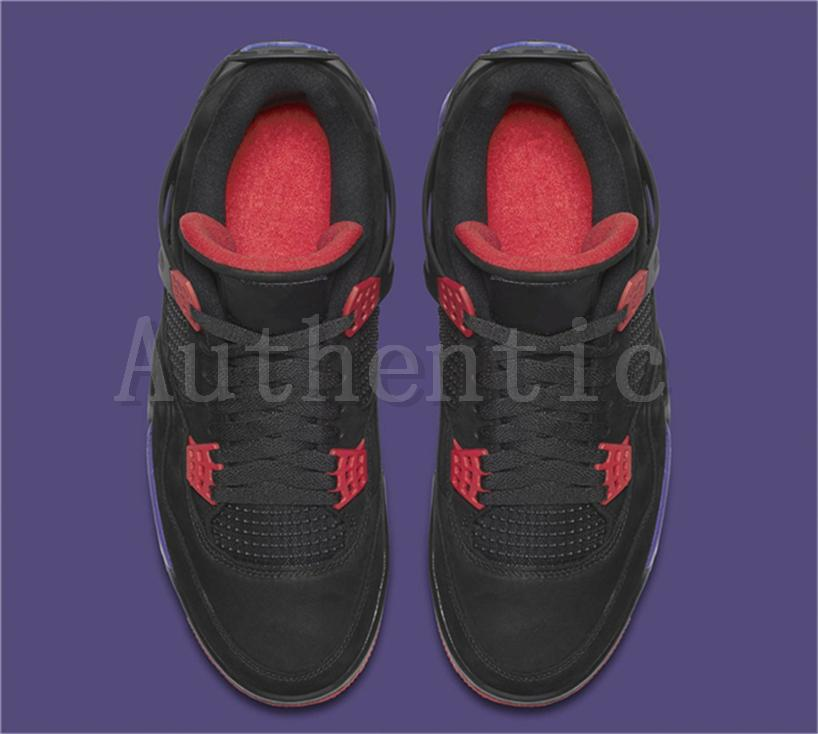 the best attitude dec18 9caea Newest Release 4 Drake NRG Raptors 4S IV Basketball Shoes Sneakers For Men  Black Purple Red AQ3816-056 Drake Raptors 4S Sports Shoes