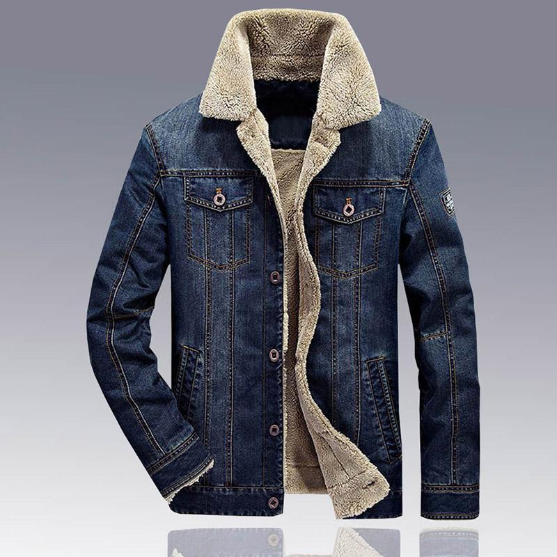 f55869947e Compre Jaqueta De Jeans Homens Inverno Engrossar Quente Cordeiro De Lã  Forro De Lã Jaqueta Jeans Homens Casacos De Hip Hop Jaqueta Casaco  Masculino De ...