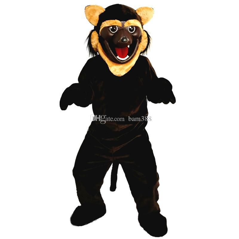 2018 neue hochwertige Brown Wildcat Tiger Maskottchen Kostüme für Erwachsene Zirkus Weihnachten Halloween Outfit Kostüm Anzug Kostenloser Versand