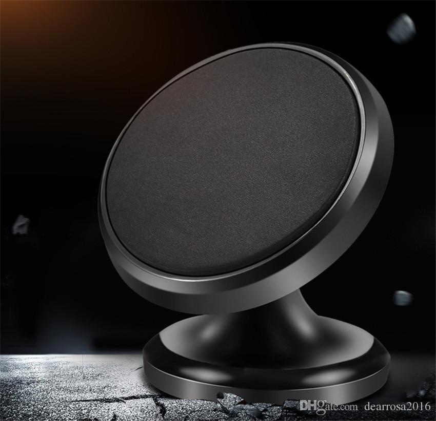 liga de alumínio placa de traço magnética 360 graus girar suporte de anel de telefone celular de montagem de carro para tablets telefone celular promoção presente criativo