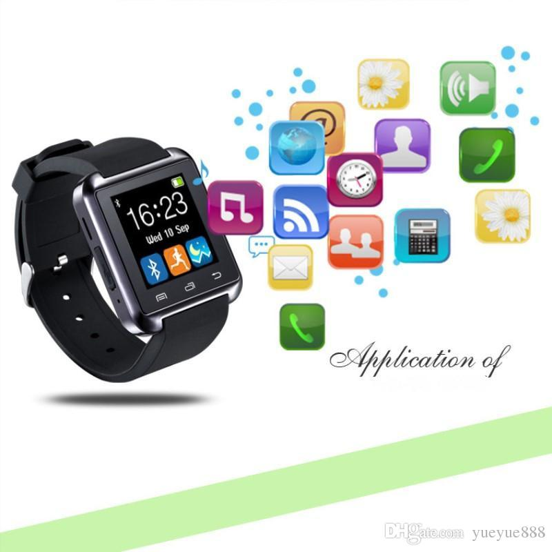 2018 Bluetooth Smart Watch U8 U Watch WristWatch for iPhone 4/4S/5/5S Samsung S4/Note 3 HTC Android Phone Smartphones