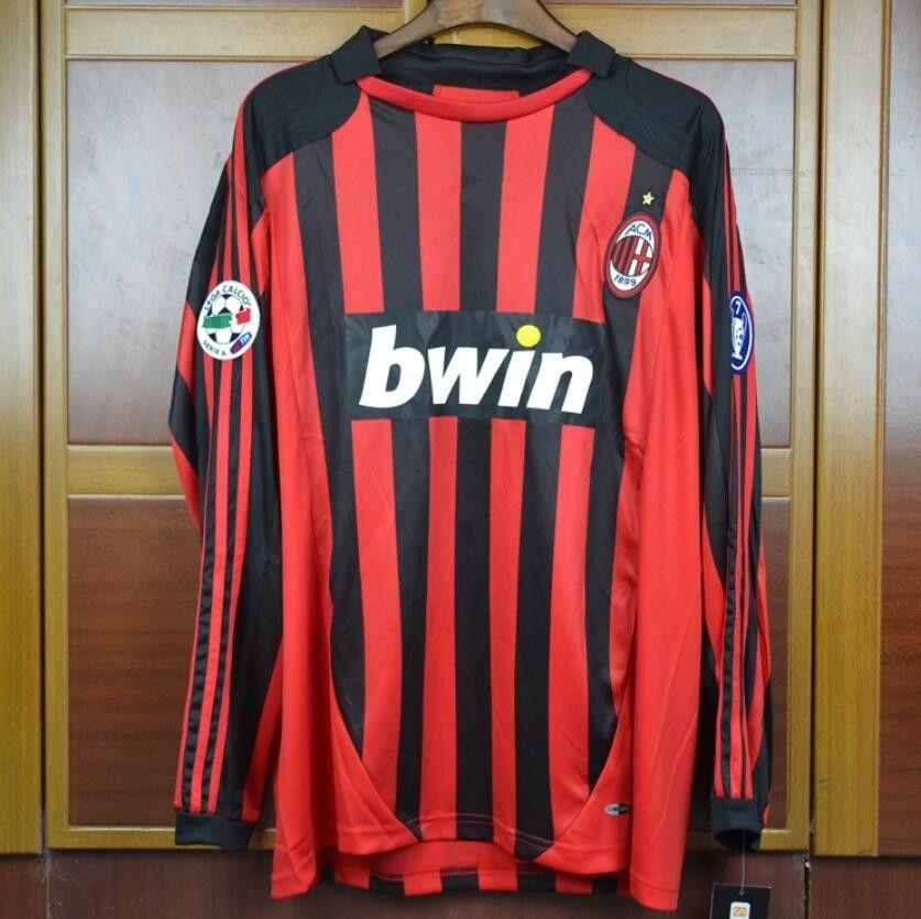 07 08 Milan Nesta KAKA Ronaldo Inzaghi Maldini Retro Soccer Jersey 2007  2008 Milan Home Away Shirt Football Vintage Canada 2019 From  Jerseyclubsoccer000 4f414c8a6